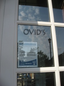 for breakfast at Ovid's